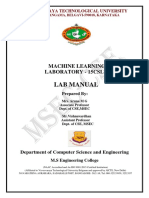 Vtu ml lab manual
