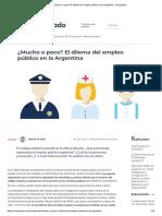 ¿Mucho o Poco_ El Dilema Del Empleo Público en La Argentina - Chequeado