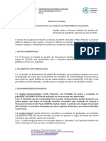 Edital Processo Permanência Estudantil 2019