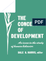 - Concept of Development an Issue in the Study of Human Behavior