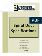 Spiral Duct Specifications (Imperial)