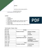 Sample  of a Draft intervention program