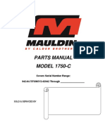 Mouldin 1750-C Parts Manual