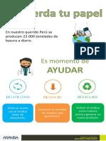 Infografía ambiental - reciclaje