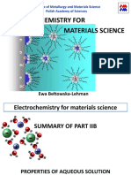 Electrochemistry for Materials Science.ewa Lehman