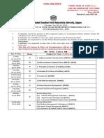 Final Time Table for T.Y.B.com.(CGPA) (60-40)Exam Nov 2019