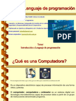 Clase 1. Introduccion Al Lenguaje de Programacion