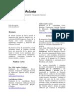 Articulo de Revision Presupuestos Final