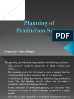 Planning of Production Setup