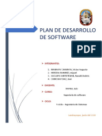 Plan de Desarrollo de Software, TRABAJO FINAL
