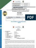 Silabo Matemática 2 Educación Física 2019-II