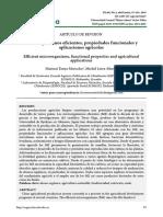 Microorganismos Ecientes, Propiedades Funcionales y