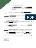 Affidavit of Singlehood