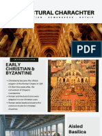Comparative of Early Christian Romanesque Gothic