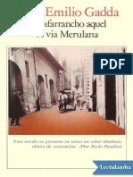 El Zafarrancho Aquel de via Merulana - Carlo Emilio Gadda