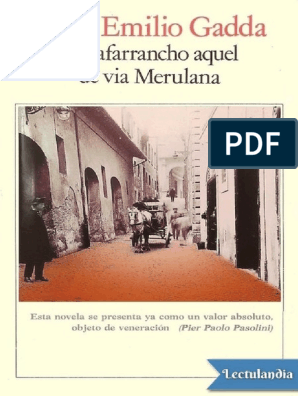 El Zafarrancho Aquel De Via Merulana Carlo Emilio Gadda