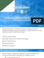 2016 CAU CADWorx Configuration