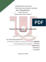 Nuevos Paradigmas de La Educacion Ambiental