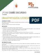Prova - Língua Portuguesa e Literatura