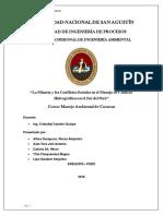 La Mineria y Los Conflictos Sociales en El Manejo de Cuencas Hidrograficas en El Sur Del Perú