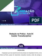 14915908.06.2016 - Aula 4 - Redacao na Pratica - Carater Transdisciplinar e Endemias, Epidemias e Pandemias (com Rafael Cafezeiro).pdf