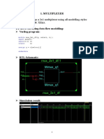 Multiplexer,demultiplexer and encoder with simulation and RTL schematic