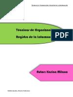 Tecnicas de Organizacion y Registro de La Informacion