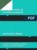 Aula II Controle de Constitucionalidade - Agosto 19