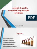 Conceptul de profit, maximizarea si functiile profitului