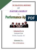 Project on Dainik Jagran Dushyant Dutt