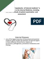 "01_The Subject ""Internal Medicine Propedeutics"""