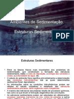 Ambientes de Sedimentação e estruturas sedimentares