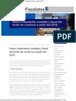 Fiscalistes CEC Nuevo Tratamiento Contable y Fiscal Del Fondo de Comercio a Pa