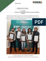 31-10-19 Premia ISC a ganadores del Concurso del Libro Sonorense y concursos infantiles y juveniles
