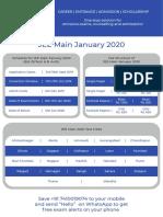 JEE Main 2020 January