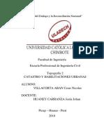 Informe Catastro y Habilitaciones Urbanas