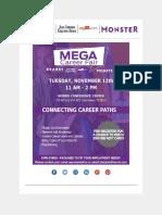 See You on November 12th at the Mega Career Fair! 11am-2pm
