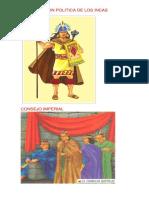 Organizacion Politica de Los Incas Laminas