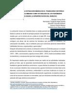 Afectación de La Extracción Minera en El Transcurso Histórico Del Estado Colombiano