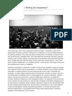 01 Rothman - Why is Academic Writing So Academic
