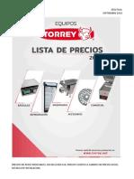 LISTA de PRECIOS Torrey Septiembre 2018