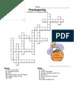 Thanksgiving Crossword3