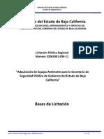 Bases LPR 034-11 Gobierno del Estado de Baja California COMITE DE ADQUISICIONES, ARRENDAMIENTOS Y SERVICIOS DEL PODER EJECUTIVO DEL GOBIERNO DEL ESTADO DE BAJA CALIFORNIA