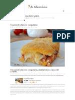 Focaccia Tradicional Con Patatas - Receta Italiana Típica Del Salento