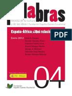 2012 España Ante Inmigracion Africana Palabras a Mangas