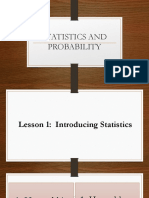 Statistics and Probability LESSON 1 & 2