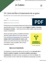 53. Cómo Escribir El Tratamiento de Un Guion - David Esteban Cubero
