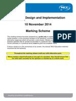 ADI December 2014 Marking Scheme - FINAL