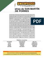 Sopa de Letras de San Martín de Porres