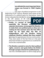 Was the Congress attitude the most important factor why Muslim League was formed in 1906.pdf